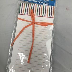 Jot Magnetic Notepad zigzag NIP